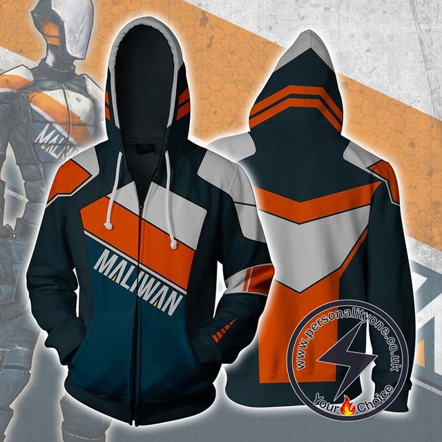 Borderlands Maliwan Zip Up Hoodie Jacket