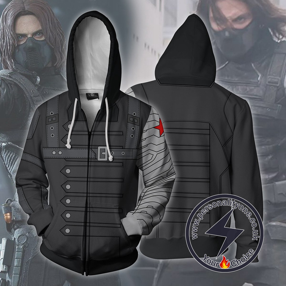 Captain America Hoodie - Bucky Winter Soldier Jacket