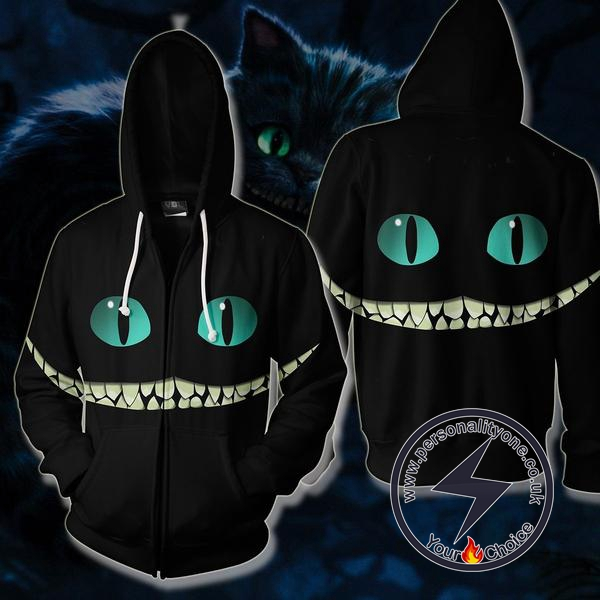 Cheshire Cat Smile Zip Up Hoodie Jacket