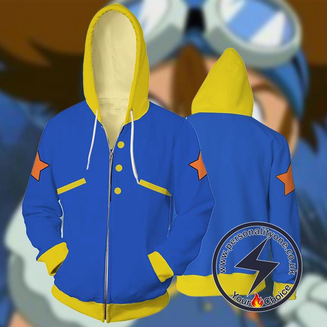 Digital Monsters Tai Kamiya Hoodie Jacket