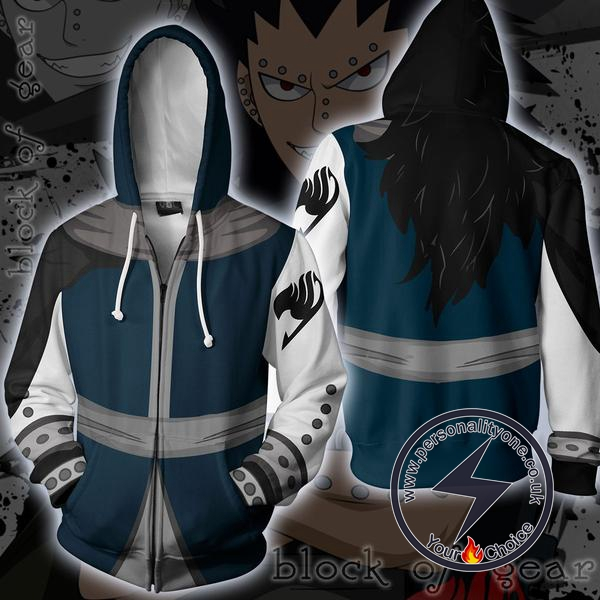 Fairy Tail Gajeel Zip Up Hoodie Jacket