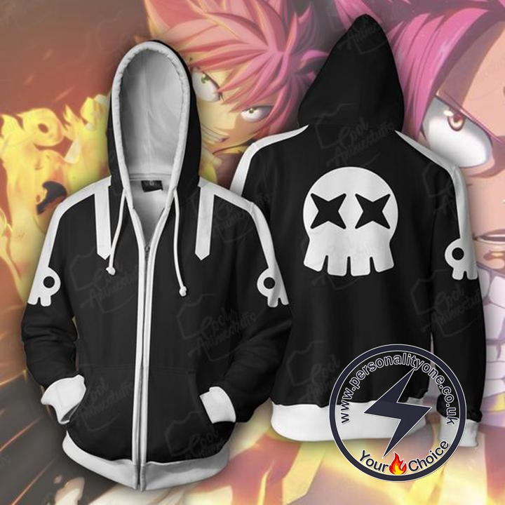 Fairy Tail Hoodies - Fairy Tail Natsu Dragnel Zip Up Hoodie Jacket