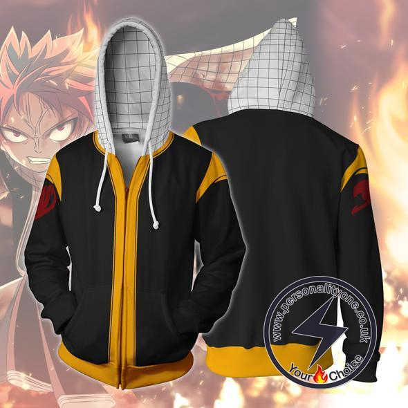 Fairy Tail Natsu Zip Up Hoodie Jacket