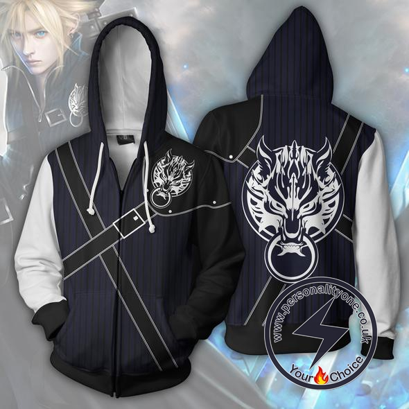 Final Fantasy Hoodies - Cloud Strife Zip Up Hoodie Jacket