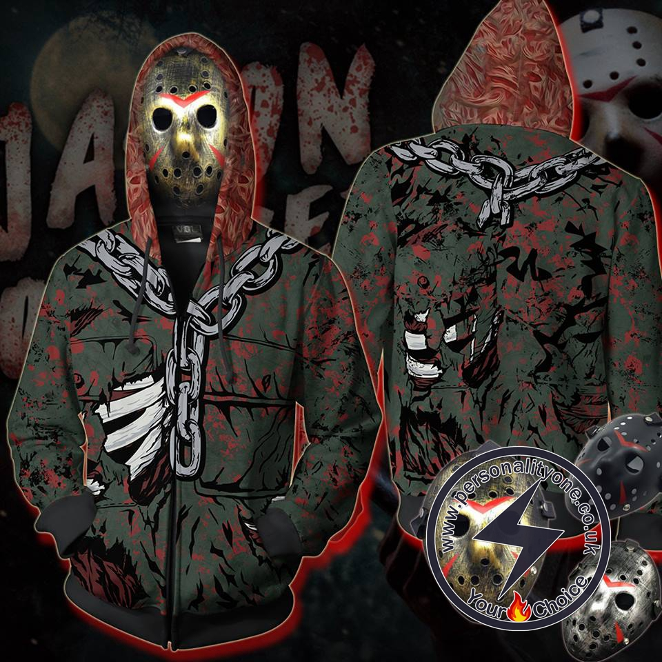 Friday The 13th Series Jason Voorhees Hoodie Zip Up Hoodie Jacket