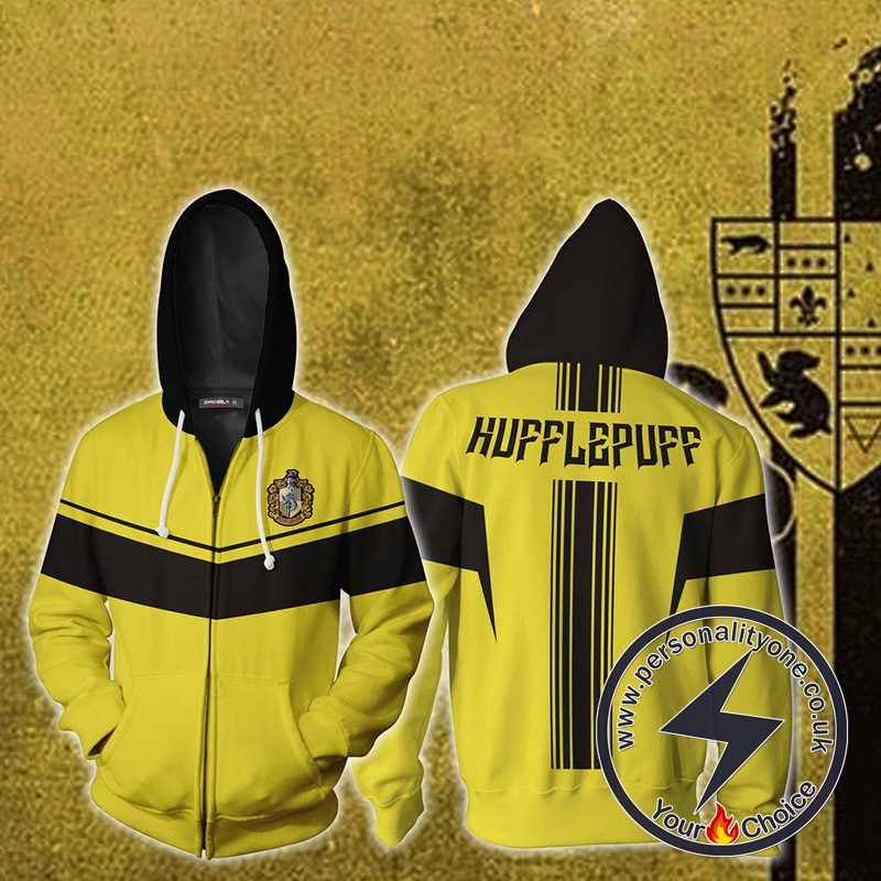 Harry Potter Hufflepuff Cosplay Zip Up Hoodie Jacket