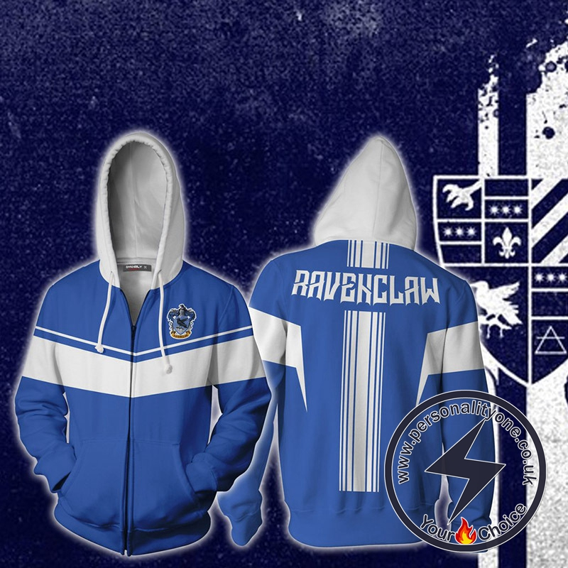 Harry Potter Ravenclaw Cosplay Zip Up Hoodie Jacket