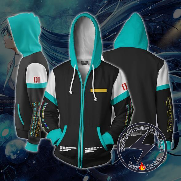 Hatsune Miku Anime Zip Up Hoodie Jacket