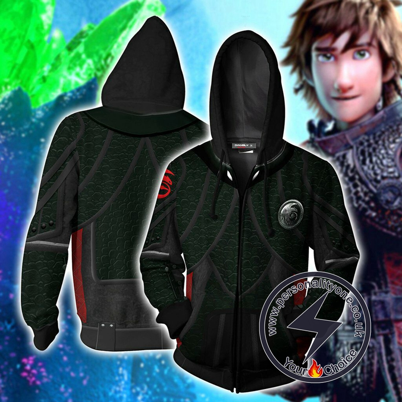 How To Train Your Dragon 3 Hiccup Cosplay Zip Up Hoodie Jacket