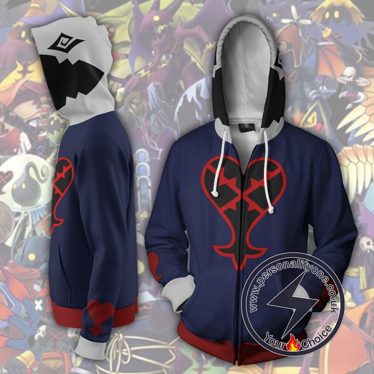 Kingdom Hearts Hoodie - Heartless Jacket