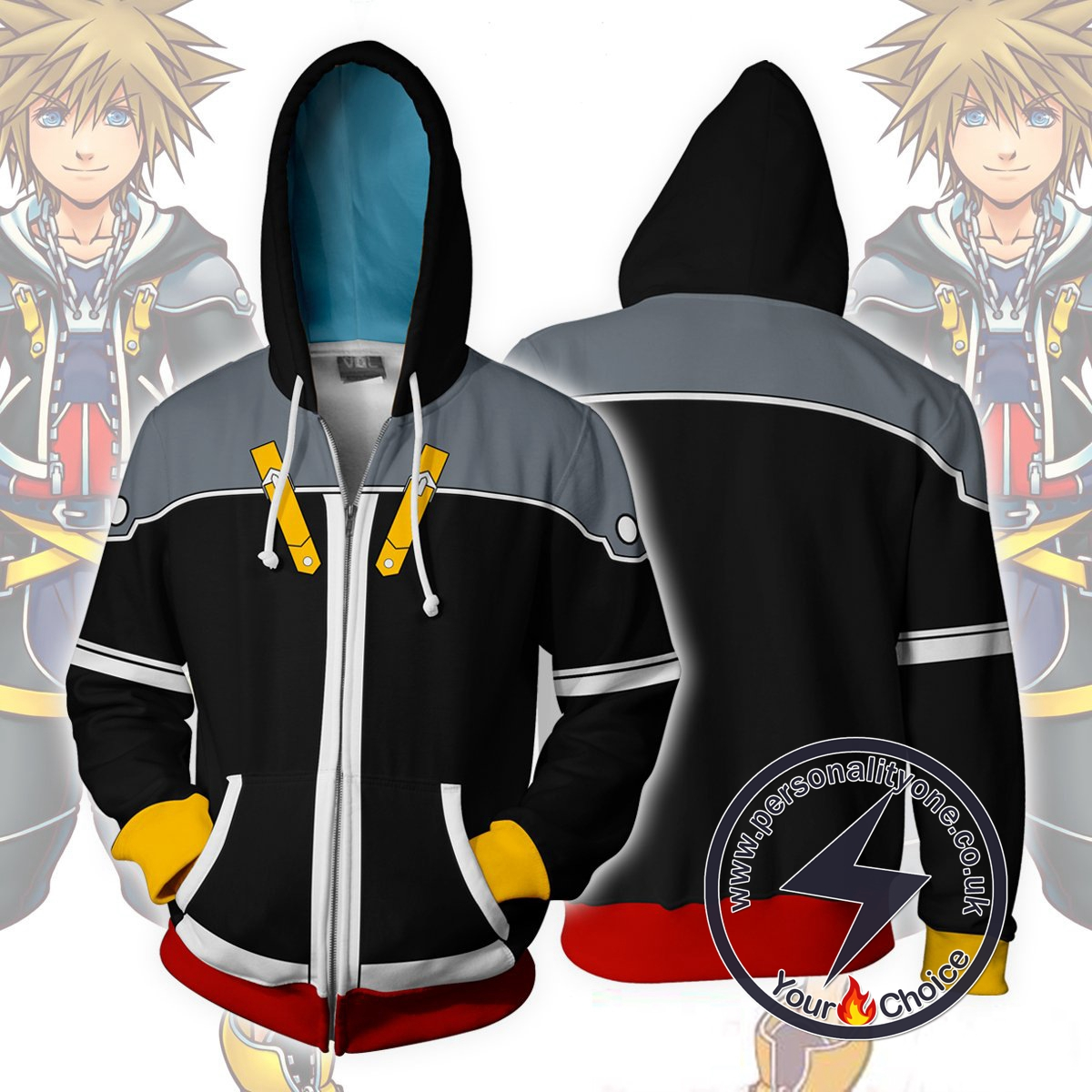 Kingdom Hearts Hoodie - Kingdom Hearts 2 Sora Black Jacket