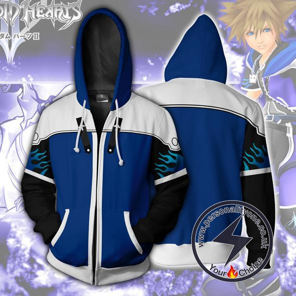 Kingdom Hearts Hoodies - Sora Wisdom Form Zip Up Hoodie Jacket