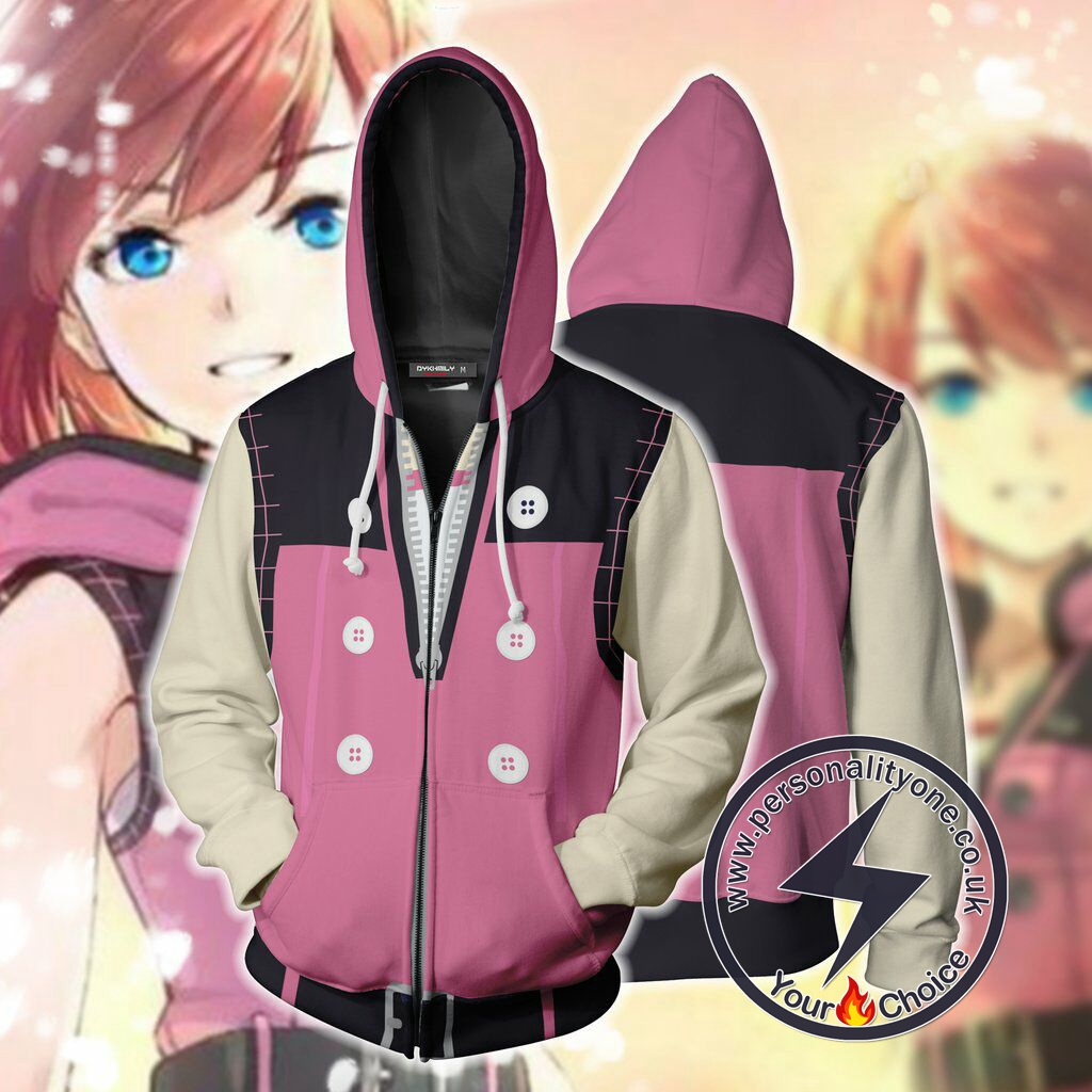 Kingdom Hearts III Kairi Cosplay Zip Up Hoodie Jacket