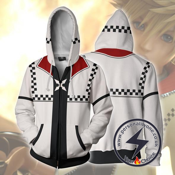 Kingdom Hearts Roxsa Zip Up Hoodie Jacket
