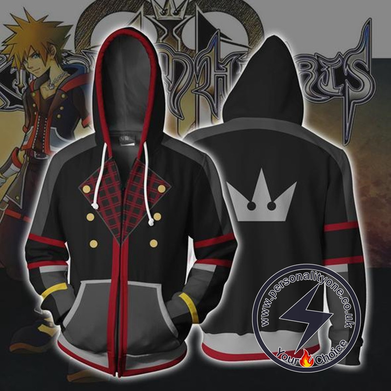 Kingdom Hearts Sora Zip Up Hoodie Jacket