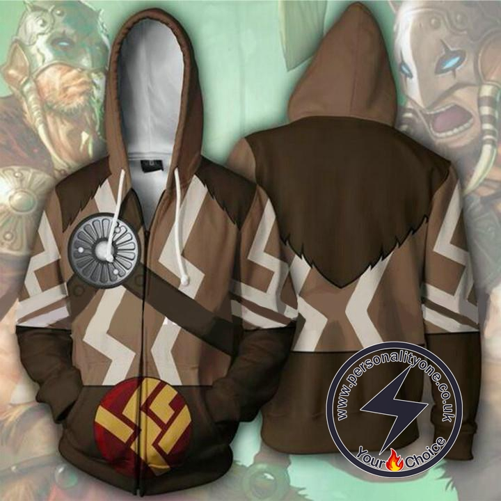 Magic The Gathering Hoodies - Garruk Zip Up Hoodie Jacket