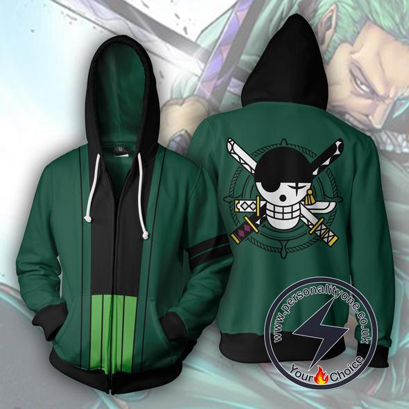 One Piece Roronoa Zoro Zip Up Hoodie Jacket
