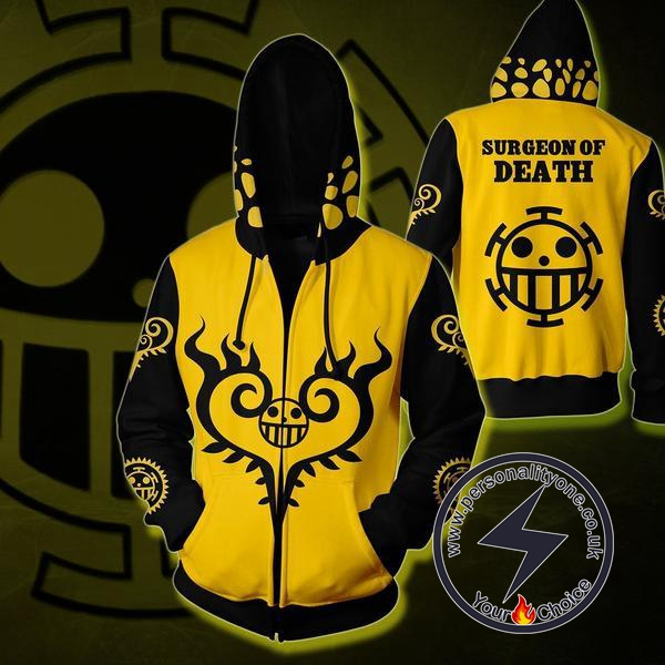 One Piece Trafalgar Law Zip Up Hoodie Jacket
