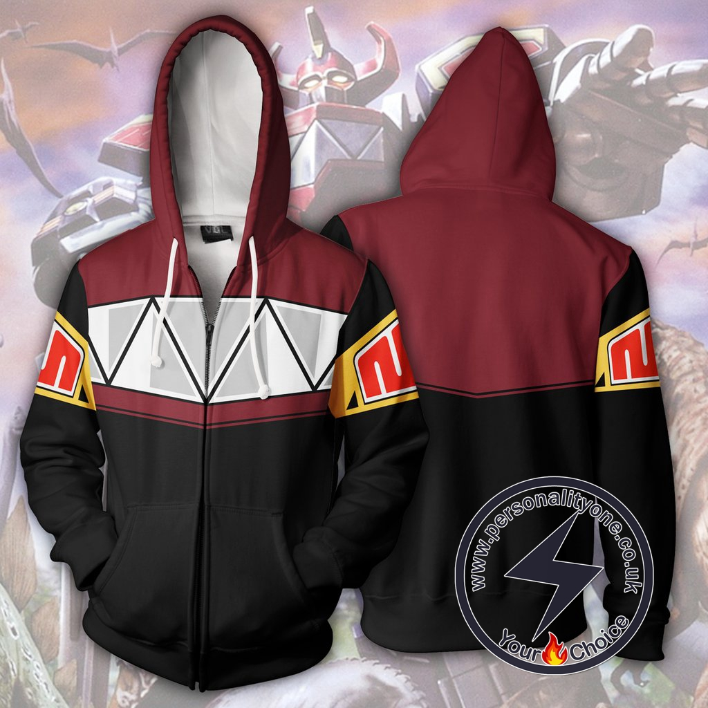 Power Rangers Hoodie Megazord Mighty Morphin Jacket