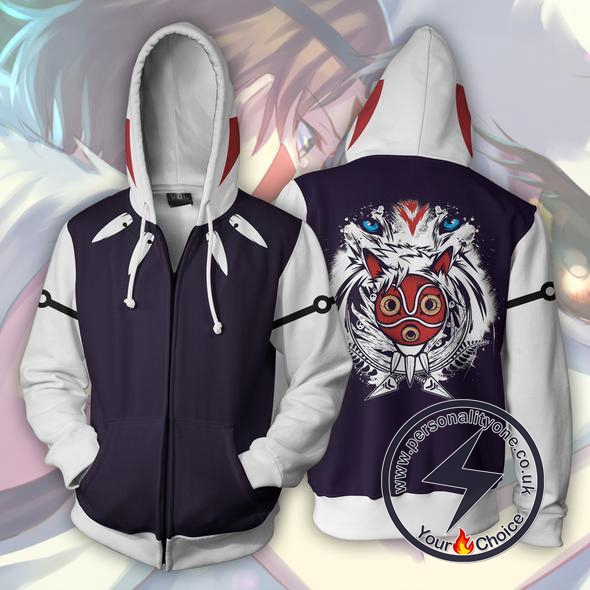 Princess Mononoke Zip Up Hoodie Jacket