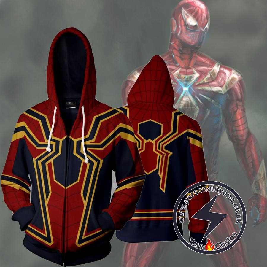 Spiderman Homecoming Iron Spider Zip Up Hoodie Jacket