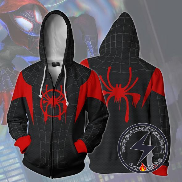 Spiderman Hoodie - Spider-man Into The Spider-verse Jacket