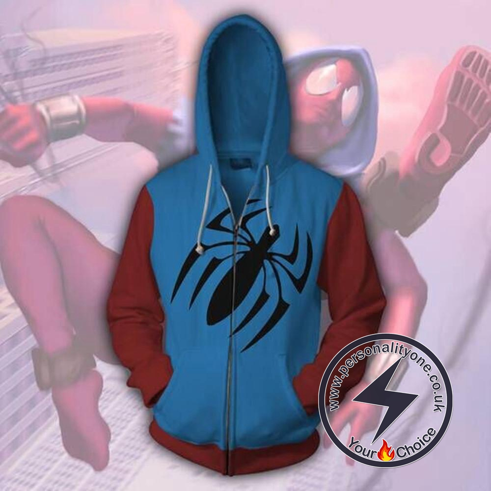 Spiderman Hoodies - Scarlet Spider Man Zip Up Hoodie