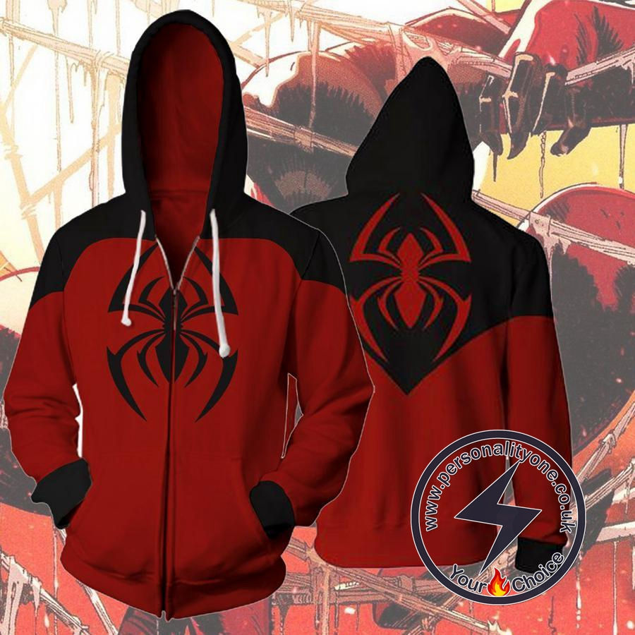 Spiderman Scarlet Spider Kaine Parker Zip Up Hoodie Jacket