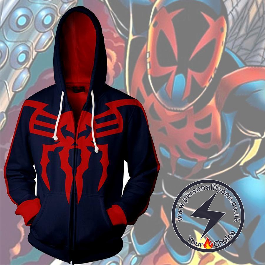 Spiderman Spider-Man 2099 Zip Up Hoodie Jacket