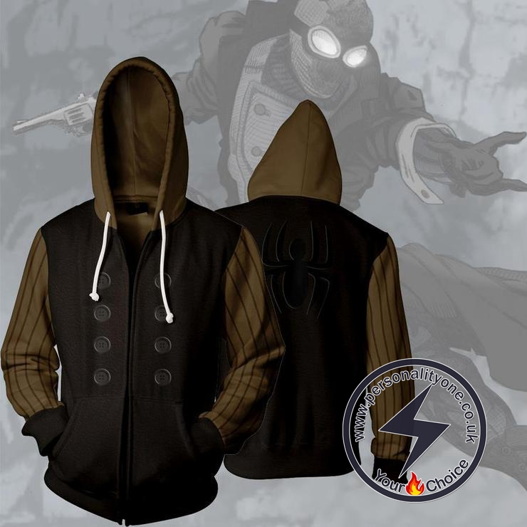 Spiderman Spider-Man Noir Zip Up Hoodie Jacket