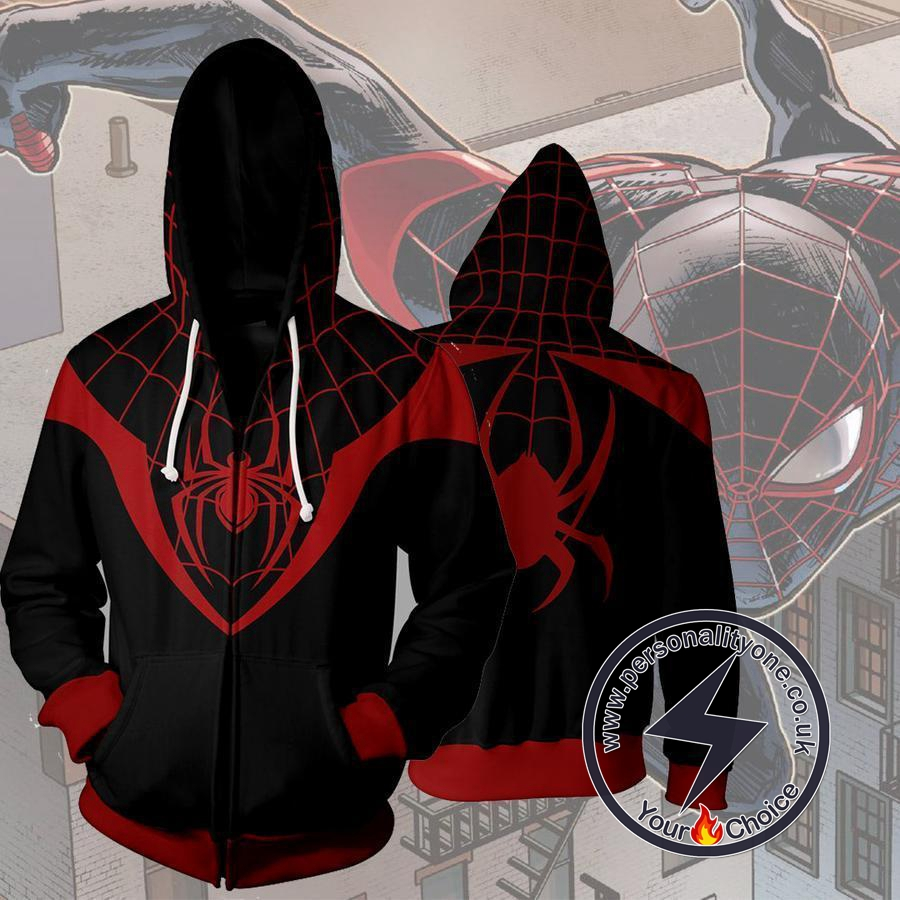 Spiderman Ultimate Spiderman Miles Morales Zip Up Hoodie Jacket