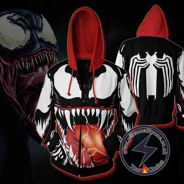 Spiderman Venom Zip Up Hoodie Jacket