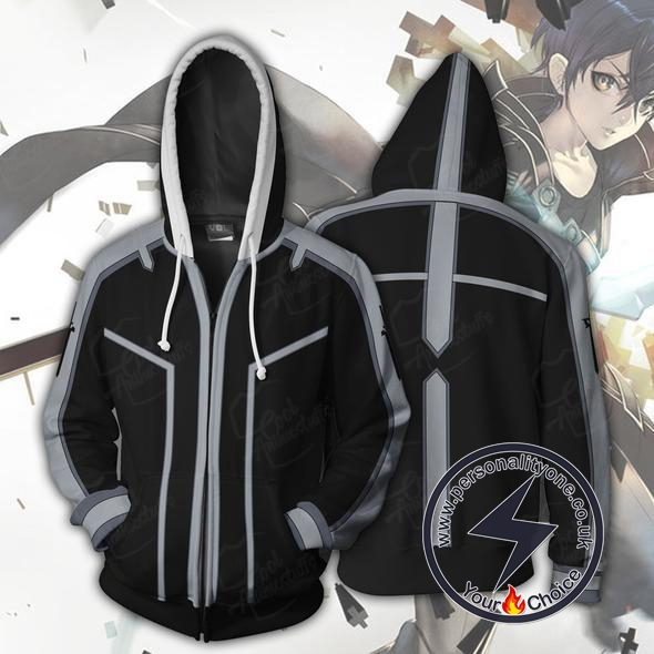 Sword Art Online Kirito Zip Up Hoodie Jacket