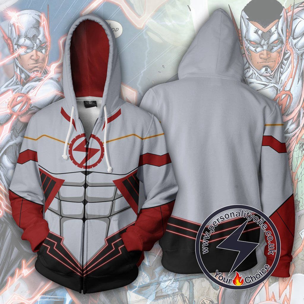 The Flash Hoodie - Flash Wally West Silver Jacket