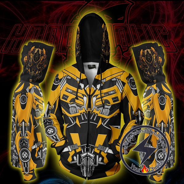 Transformers Bumblebee Zip Up Hoodie Jacket