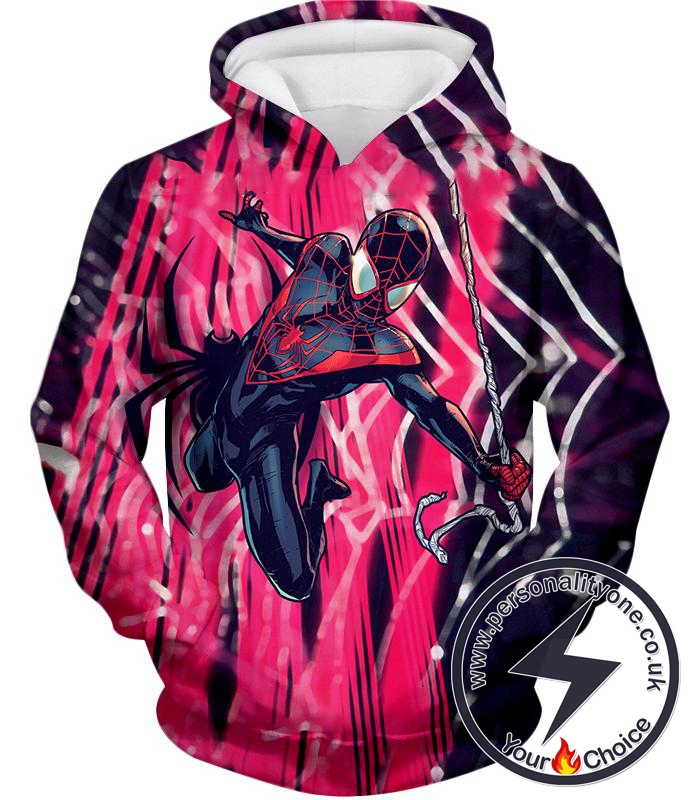 Amazing Black Spiderman Animated Action Hoodie