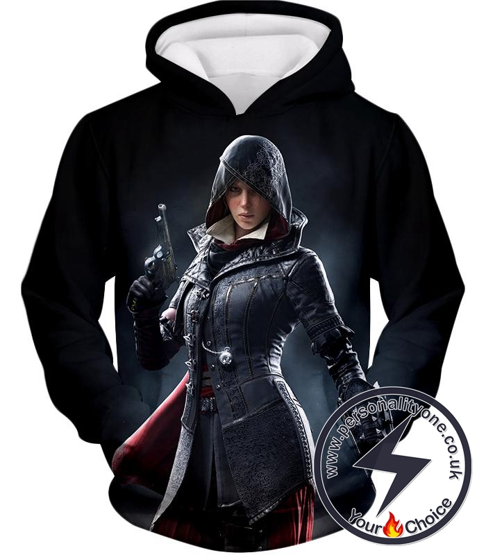 Amazing Syndicate Female Assassin Evie Frye Cool Black Hoodie