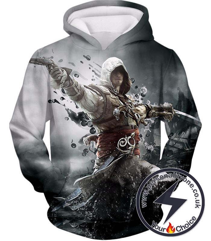 Assassin's Creed Black Flag Hero Edward James Kenway Cool Action Hoodie