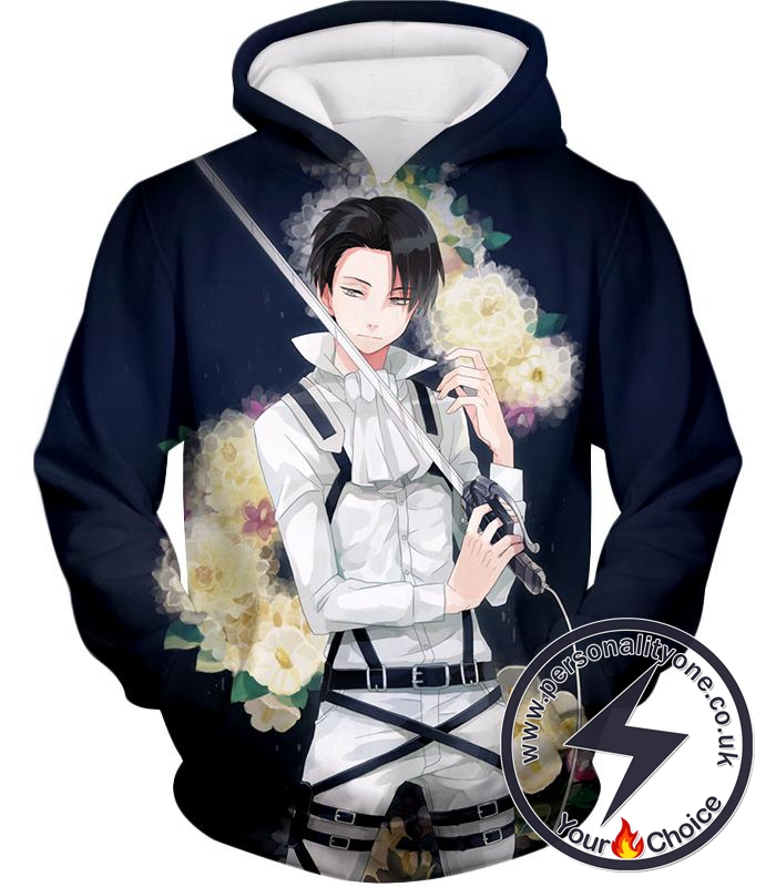 Attack on Titan Strongest Soldier Levi Ackerman Cool Anime Promo Hoodie