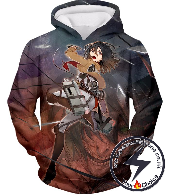 Attack on Titan Super Skilled Soldier Mikasa Ackerman Ultimate Anime Action Hoodie