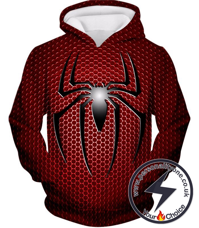 Awesome Spiderman Logo Red Spotted Hoodie