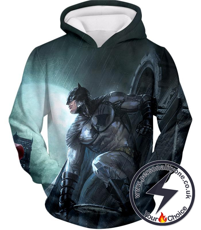 Batman the Ultimate Dark Knight HD Graphic Action Hoodie