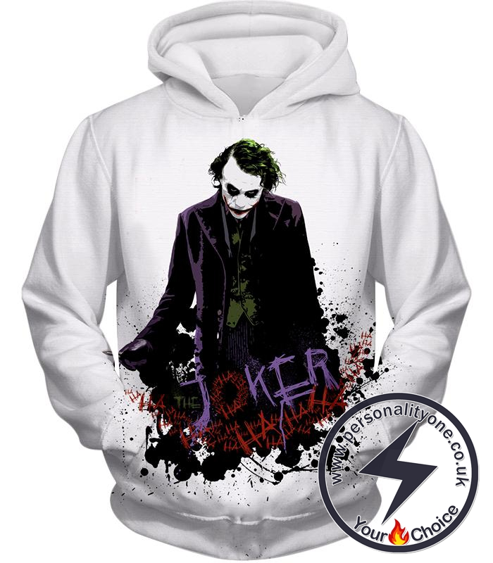 Best Batman Villain The Joker Cool White Hoodie