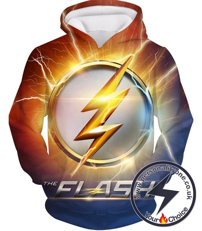 DC Comics The Flash Symbol Hoodie - Superhero 3D Hoodies And Clothing