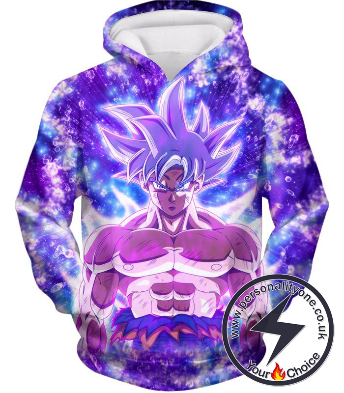 Dragon Ball Super Awesome Ultra Instinct Goku Cool Anime Promo Graphic Hoodie