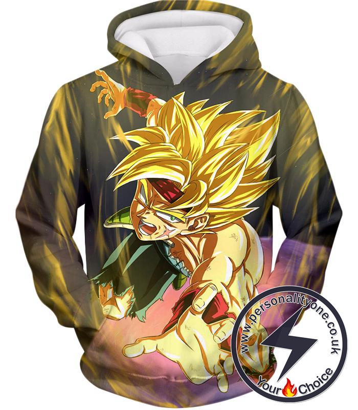 Dragon Ball Super Bardock the Ultimate Super Saiyan Awesome Anime Black Hoodie