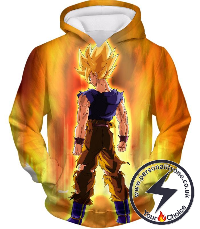 Dragon Ball Super Coolest Goku Super Saiyan 2 Awesome Action Promo Hoodie
