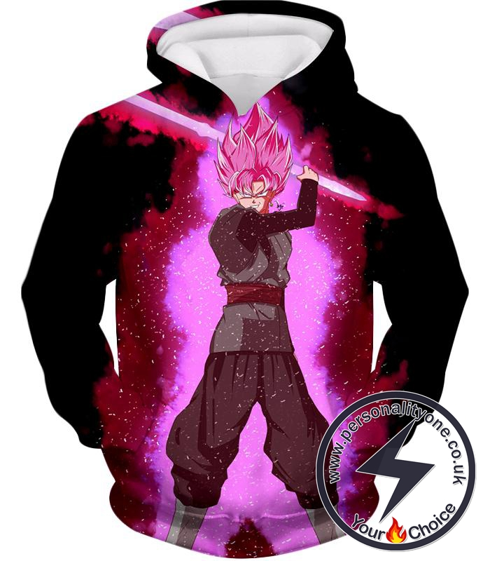 Dragon Ball Super Dangerous Evil Zamasu Super Saiyan Rose Action Cool Black Hoodie