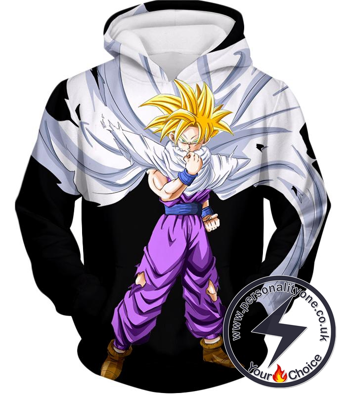 Dragon Ball Super Extremely Cool Gohan Full Super Saiyan Awesome Promo Black Hoodie