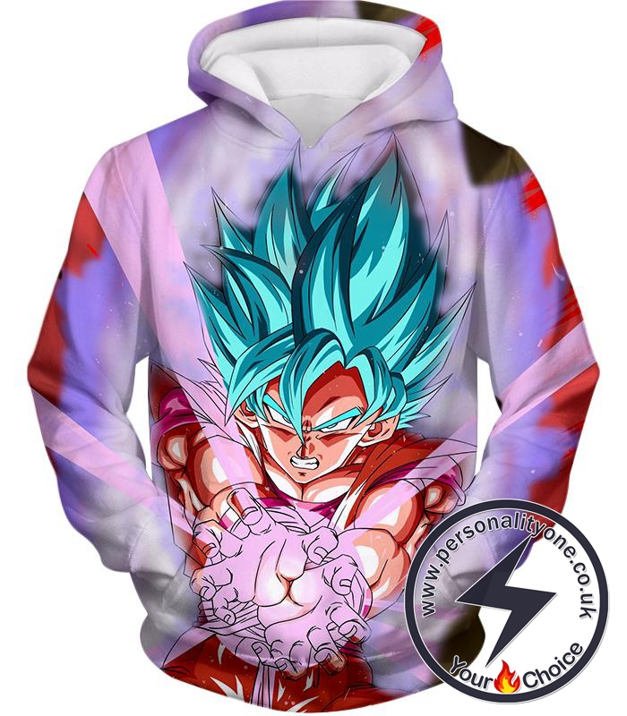 Dragon Ball Super Goku Super Saiyan Blue Godly Mode Ultimate Action Hoodie